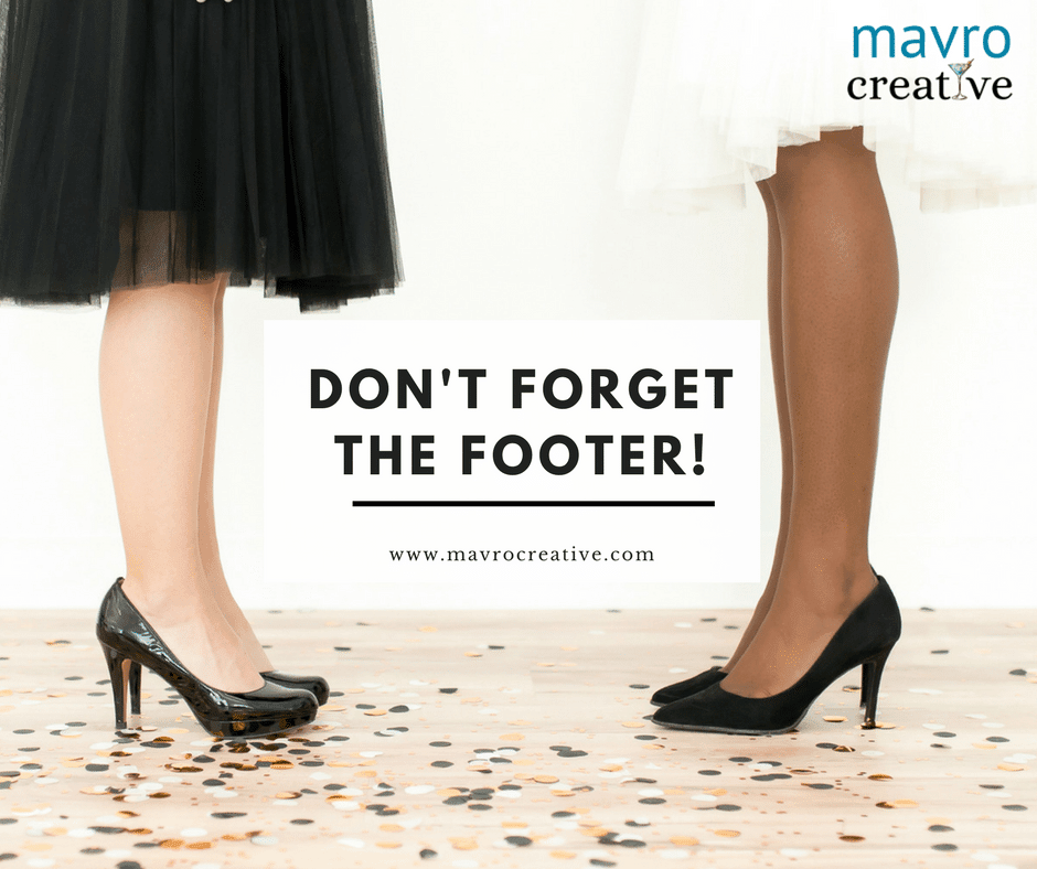 Don't Forget the Footer