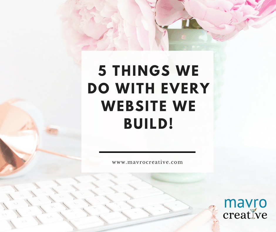 5 Things We Do