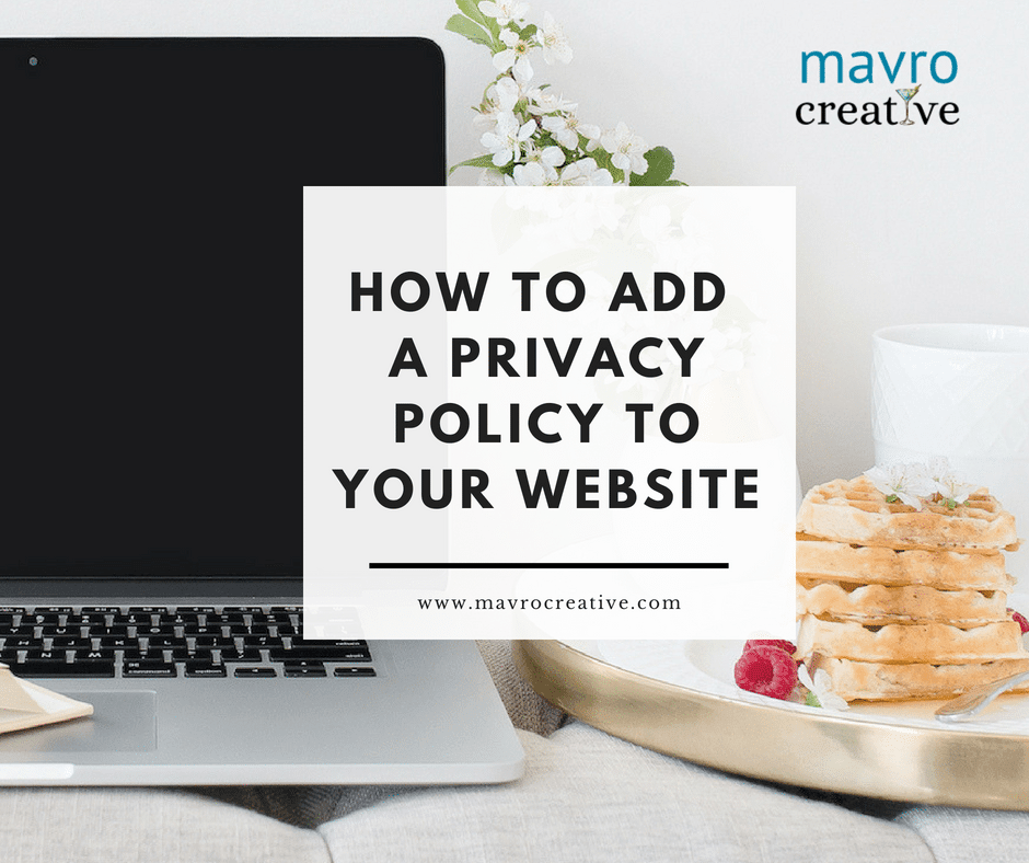 Privacy Policy on Website