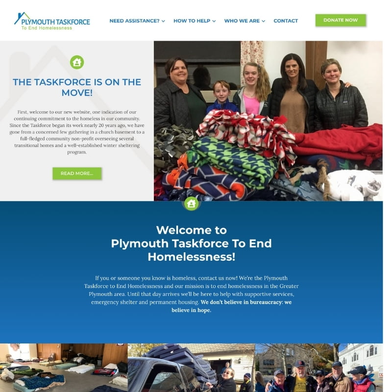 Screenshot of the PTEH website